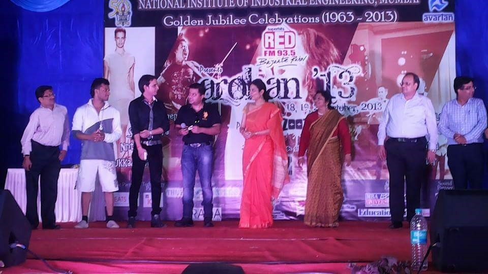 Chief Guest at the annual Festival of National Institute Of Industrial Engineering, Powai