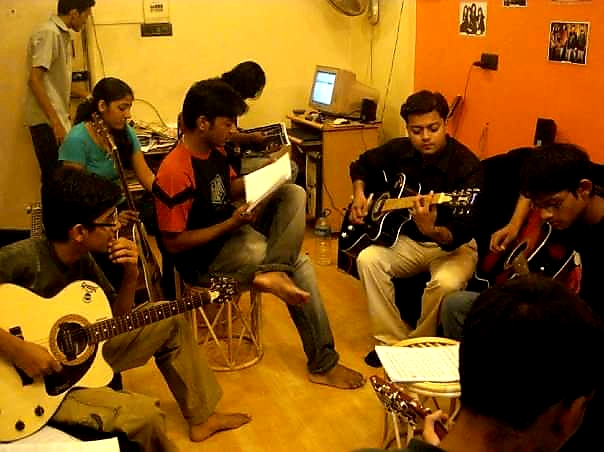 Kiran Roy conducting Guitar Lessons at 2001