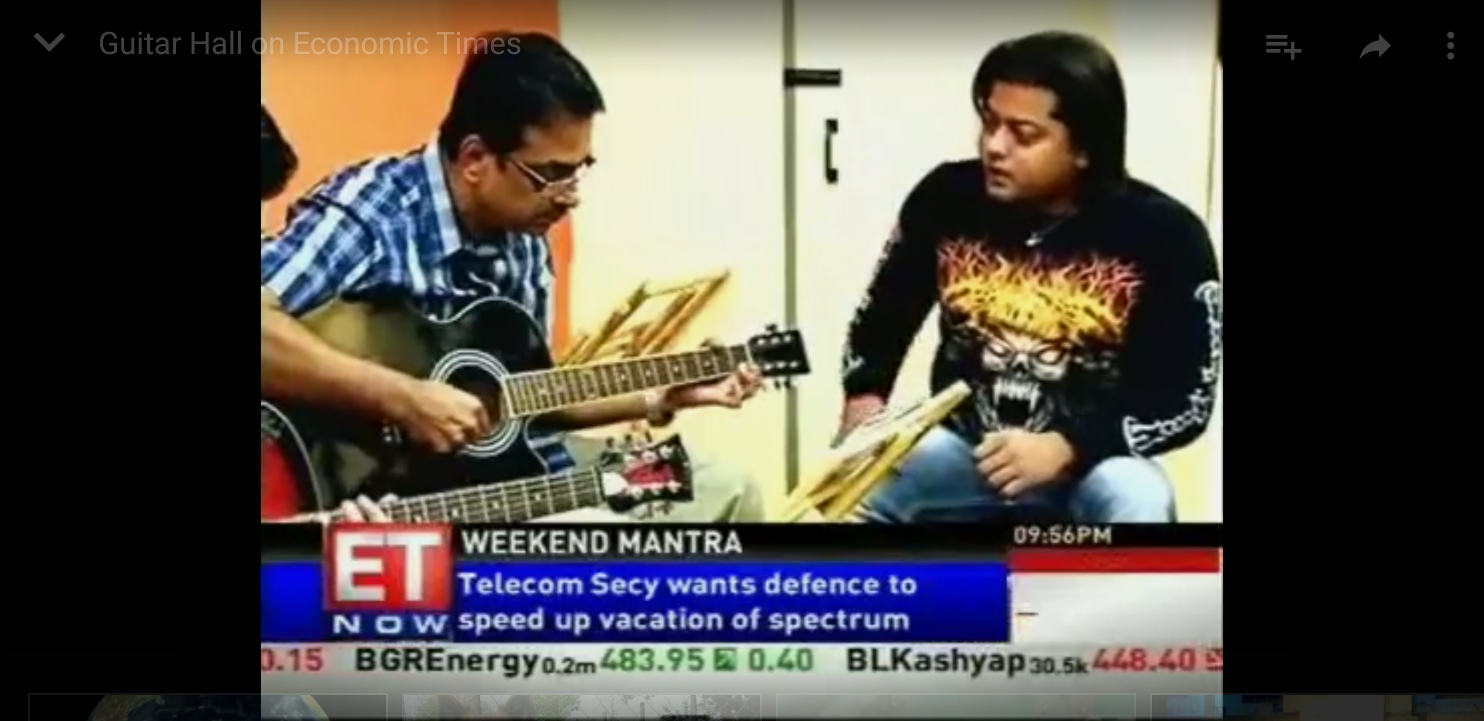 Kiran Roy covered in ET Now Channel