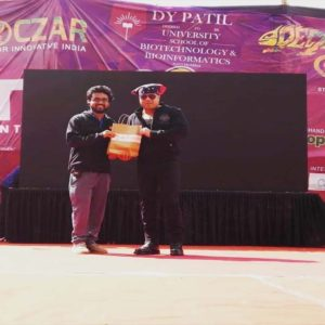 Kiran Roy invited as a Chief Guest and felicitated at D. Y. Patil College.