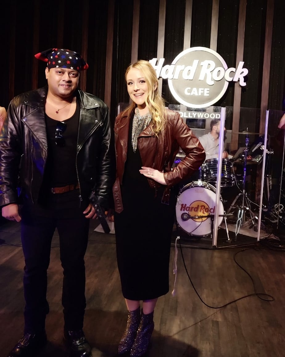 Kiran Roy is the first Musician from India to be invited to perform at Hard Rock Cafe, Hollywood which is the Mecca of Rock music in the world!